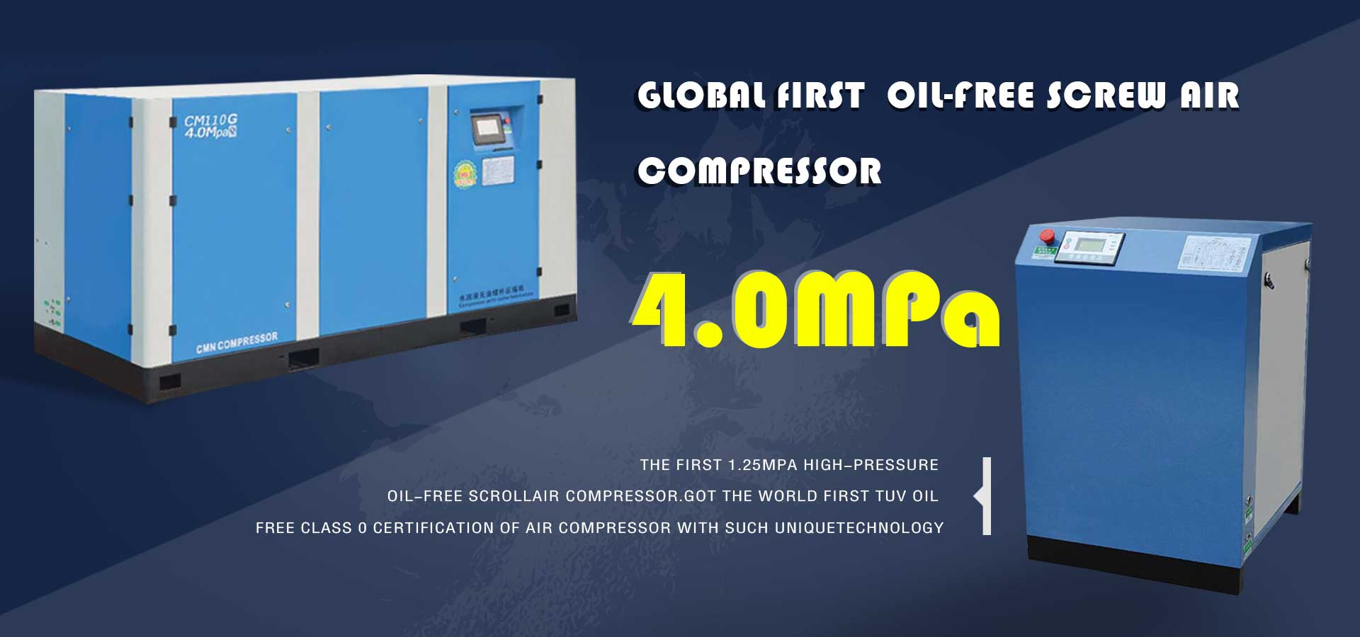 40 bar oil-free screw air compressor features