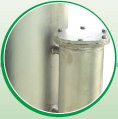 Water/gas separator and water filter
