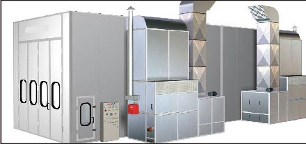scroll air compressor for precision spray production line